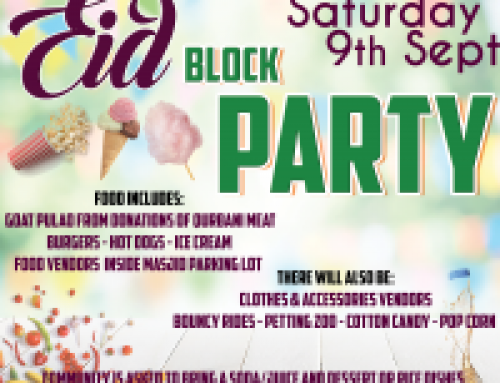 Eid Block Party on Sat 9th Sept
