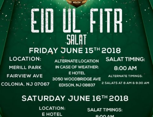 Eidul Fitr 2018 Prayer Details
