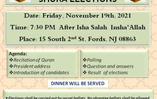 MCNJ General Body Meeting and Elections